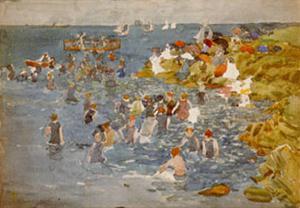 Bathing by Maurice Brazil Prendergast