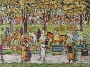 Central Park, c.1914-15 by Maurice Brazil Prendergast