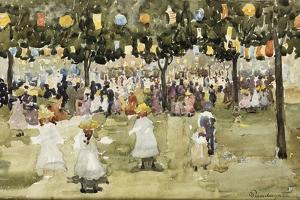 Central Park, New York City, July 4Th, C.1900-03 by Maurice Brazil Prendergast