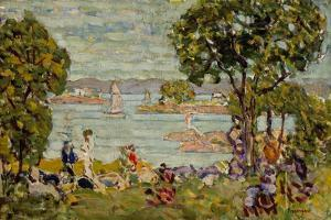 Cove, Maine, c.1907-10 by Maurice Brazil Prendergast