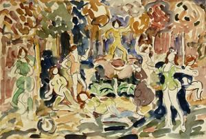 Dancing Figures by Maurice Brazil Prendergast