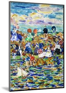 Idlers on the Beach by Maurice Brazil Prendergast