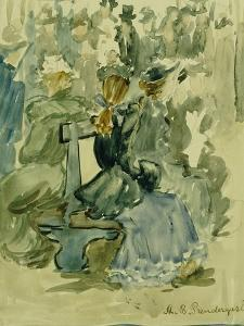 Ladies Seated on a Bench by Maurice Brazil Prendergast