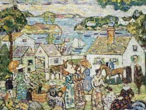 New England Harbour, c.1919-23 by Maurice Brazil Prendergast