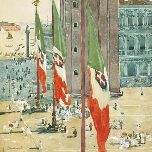 Piazza di San Marco, c.1898–99 by Maurice Brazil Prendergast