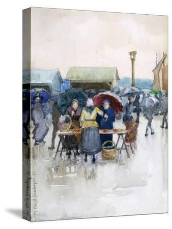 Rainy Day: the Fish Market, 1892