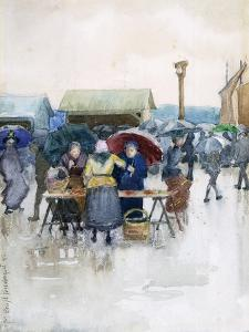 Rainy Day: the Fish Market, 1892 by Maurice Brazil Prendergast