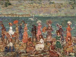 Seashore, C.1913 by Maurice Brazil Prendergast