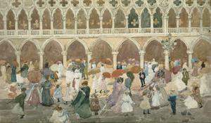 Sunlight on the Piazzetta, 1898–99 by Maurice Brazil Prendergast