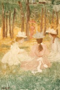 The Picnic, C.1895-97 by Maurice Brazil Prendergast