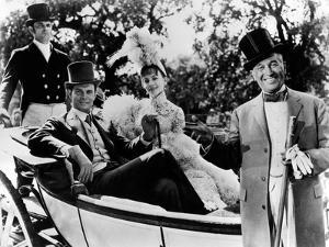 Maurice Chevalier, Louis Jourdan and Leslie Caron in That's Entertainment!