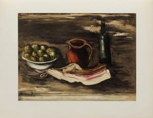 1927 - Nature morte au lard by Maurice De Vlaminck