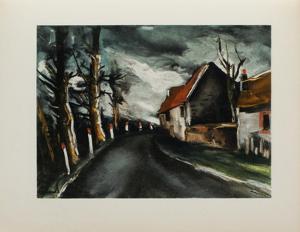 1953 - La Route De Longny by Maurice De Vlaminck
