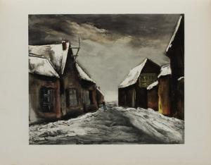 Allainville Sous la Neige, 1946 by Maurice De Vlaminck