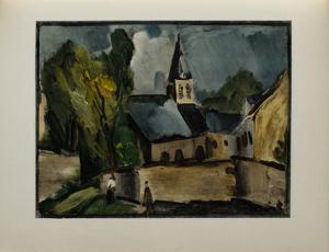 L'Eglise de Bougival, 1913 by Maurice De Vlaminck
