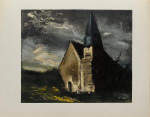 L'Eglise de Saint Lubin, 1934 by Maurice De Vlaminck