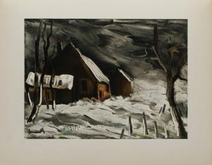 La Maladrerie Sous la Neige, 1956 by Maurice De Vlaminck