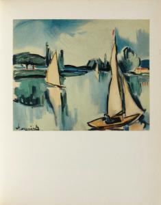 Voiliers Sur la Seine, 1908 by Maurice De Vlaminck