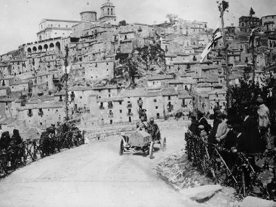 Maurice Fabry in an Itala, in the Targa Florio Race, Sicily, 1907--Photographic Print