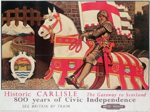 British Rail Poster Advertising 'Historic Carlisle, Gateway to Scotland', 1924 by Maurice Greiffenhagen