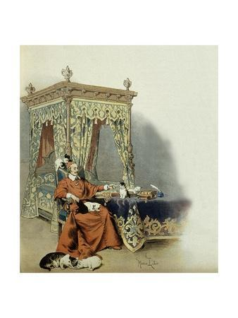 Cardinal Richelieu Playing with His Cats