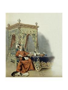 Cardinal Richelieu Playing with His Cats by Maurice Leloir