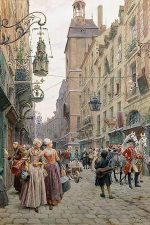 The Busy Street, 1898