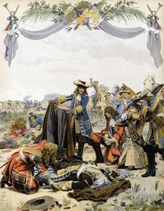 The Death of Henri De La Tour D'Auvergne, Vicomte De Turenne by Maurice Leloir