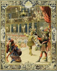 The Night Ballet, Louis XIV Dancing as Sun King by Maurice Leloir