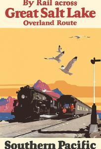 Great Salt Lake, Utah - Overland Route by Rail - Southern Pacific Railroad by Maurice Logan