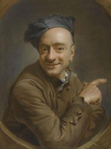 Autoportrait à l'index ou l'oeil de boeuf by Maurice Quentin de La Tour