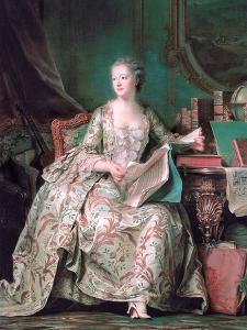 Full-Length Portrait of the Marquise De Pompadour (1721-176) by Maurice Quentin de La Tour