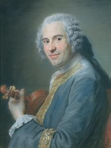 Jean-Joseph Cassanea De Mondonville, 1747 by Maurice Quentin de La Tour