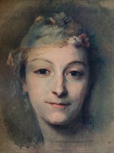 'Mademoiselle Fel', c1756 by Maurice-Quentin de La Tour