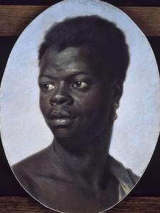 Portrait d'un jeune noir by Maurice Quentin de La Tour
