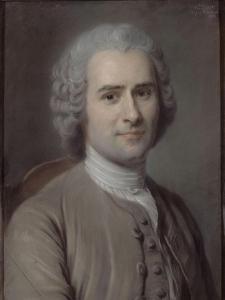 Portrait de Jean-Jacques Rousseau (1712-1778), philosophe by Maurice Quentin de La Tour