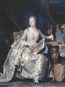 Portrait de la marquise de Pompadour (1721-1764) by Maurice Quentin de La Tour