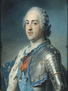 Portrait de Louis XV Le Bien-Aimé (1710-1774) en armure by Maurice Quentin de La Tour