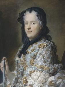 Portrait de Marie Leczinska (1703-1768), reine de France, femme de Louis XV by Maurice Quentin de La Tour