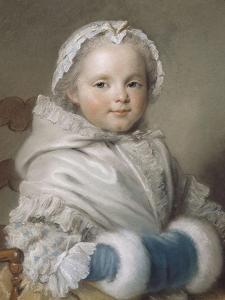 Portrait de Nicole Ricard enfant by Maurice Quentin de La Tour