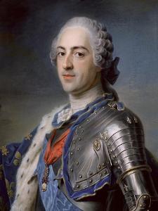 Portrait of King Louis XV 1748 by Maurice Quentin de La Tour