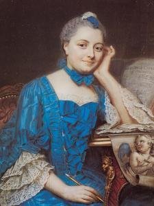 Portrait of Marie Fel, C.1753 by Maurice Quentin de La Tour