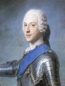 Portrait of Prince Charles Edward Stuart, Bust Length, in Profile to the Left, His Head Turned to… by Maurice Quentin de La Tour