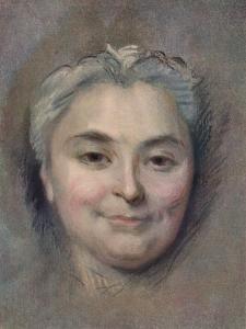 'Preparation to the portrait of Marie Catherine Dufloquet Reals, 1756 by Maurice-Quentin de La Tour
