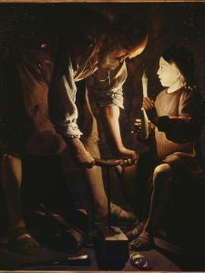 Saint Joseph charpentier by Maurice Quentin de La Tour