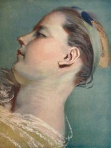 'Tete Penchee', c1752 by Maurice-Quentin de La Tour