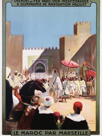 Le Maroc Par Marseille Poster