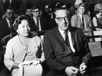 Cecelie and Thurgood Marshall Await Outcome at Senate Judiciary Committee Hearings, 1967