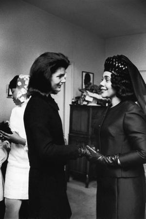 Coretta Scott King, Jacquelyn Kennedy, 1968 by Maurice Sorrell
