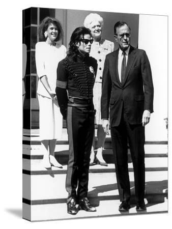 Michael Jackson; George H.W. Bush - 1990